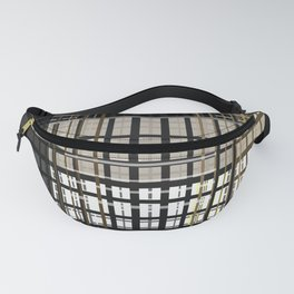 Grey brown plaid Fanny Pack