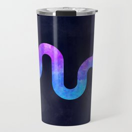 SNAKE IN SPACE // Animal Graphic Art // Watercolor Canvas Painting // Modern Minimal Cute Travel Mug