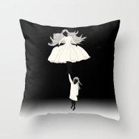 umbrella Throw Pillows featuring UMBRELLA by auntikatar
