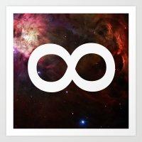 infinite Art Prints featuring Infinite by Sney1