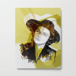 Ingrid Bergman Gold Metal Print