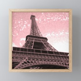 Paris Pink Eiffel Tower Framed Mini Art Print