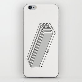 Life is short but deep iPhone Skin