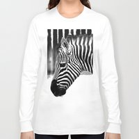 zebra Long Sleeve T-shirts featuring Zebra by Regan's World
