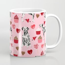 Dalmatian valentines day cupcakes and hearts love dog breeds dog lovers valentine Coffee Mug