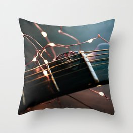 Soft Guitars Throw Pillow