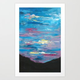 Sunset, Multi-Color Sky Painting Art Print
