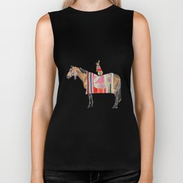 Horse with hare  Biker Tank