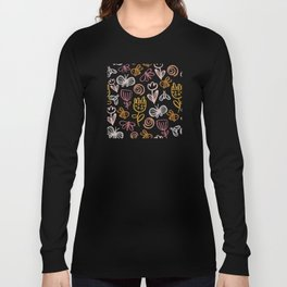 Bee with Flowers Long Sleeve T-shirt