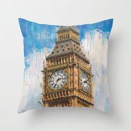 Big Ben of London Throw Pillow