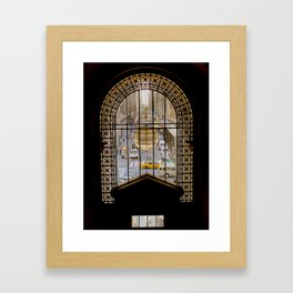 Yellow Cab Framed Art Print