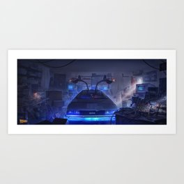 Building the time machine Art Print