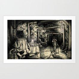 THE CRYSTAL MINES  Art Print