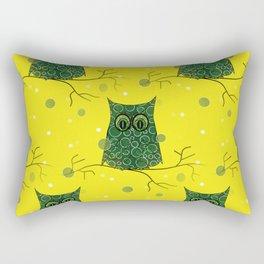 Owl On A Branch Rectangular Pillow