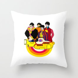 Yellow Submarine - Pop Art Throw Pillow