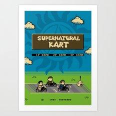 Supernatural Kart Art Print