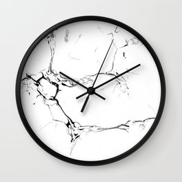 Winter Marble White Wall Clock