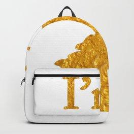 I'm a Unicorn Head in Bold Gold Backpack