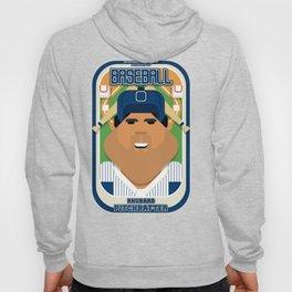 Baseball Blue Pinstripes - Rhubarb Pitchbatter - Seba version Hoody