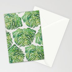 MONSTERA PUG WATERCOLOR Stationery Cards