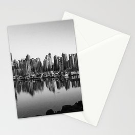 Black and White City Stationery Cards