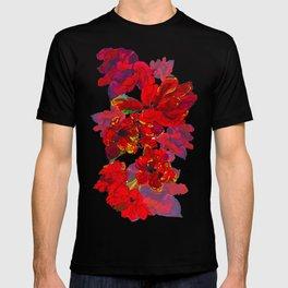 Inky Tulips Black T-shirt
