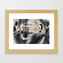 Irish Pub in Harlem Framed Art Print