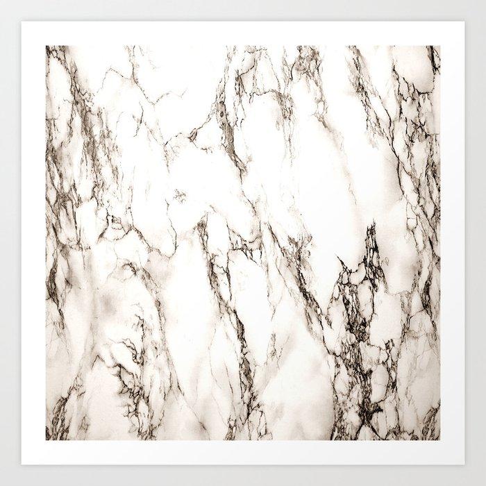 Brown Veined Marble Kunstdrucke