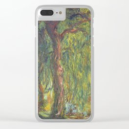 Claude Monet - Weeping Willow Clear iPhone Case