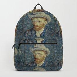 "Vincent van Gogh ""Self Portrait With Grey Felt Hat"" Backpack"