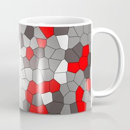 Mosaik grey white red Graphic Coffee Mug