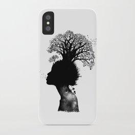 Natural Black Woman iPhone Case