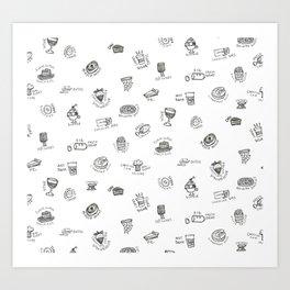 Comfort Food, I Art Print
