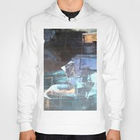 broadway Hoodies featuring Midnight Broadway East No.46 by Xi By Xi Chen