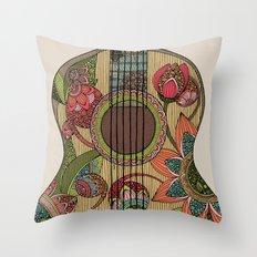 The Guitar  Throw Pillow