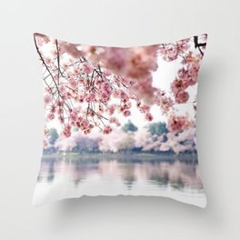 Cherry Blossoms on the Tidal Basin Throw Pillow