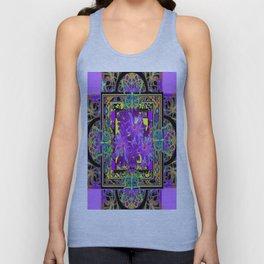 Purple Tropical.Flowers & Butterfly Decorative Floral Art Design Unisex Tank Top