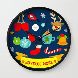 Joyeux Noel Wall Clock