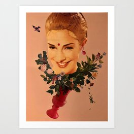Floral wedding Art Print