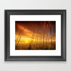 Sunrise from the Dunes at the Outer Banks, North Carolina Framed Art Print