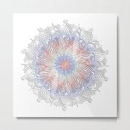 Patriotic Mandala Metal Print