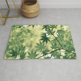 Green Japanese Maple Rug