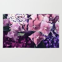 hydrangea Area & Throw Rugs featuring Hydrangea  by Truly Juel