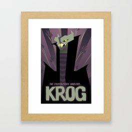 KROG -  Supernova Framed Art Print