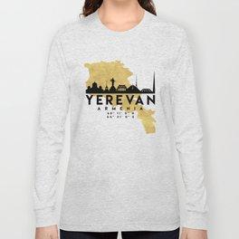 YEREVAN ARMENIA SILHOUETTE SKYLINE MAP ART Long Sleeve T-shirt