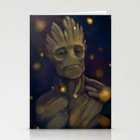 groot Stationery Cards featuring Groot by Ka-ren