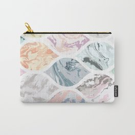 Oval shapes of marble Carry-All Pouch