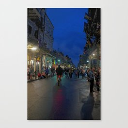 The French Quarter at Midnight Canvas Print