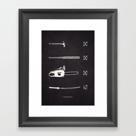 Multiple Pulp Framed Art Print