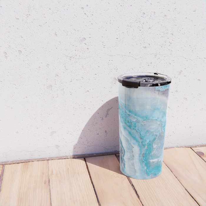 Ocean Foam Mermaid Marble Travel Mug
